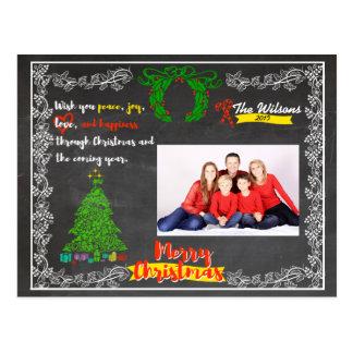Chalkboard Christmas Postcard