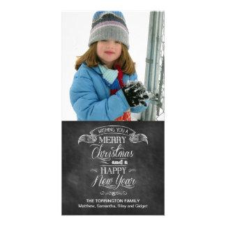 Chalkboard Christmas Wish Customized Photo Card