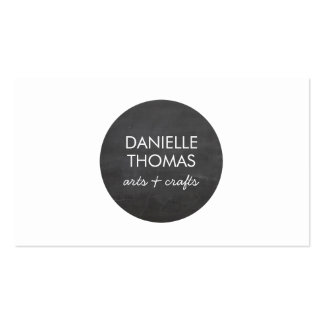 Chalkboard Circle Logo for Artists, Crafters Business Card