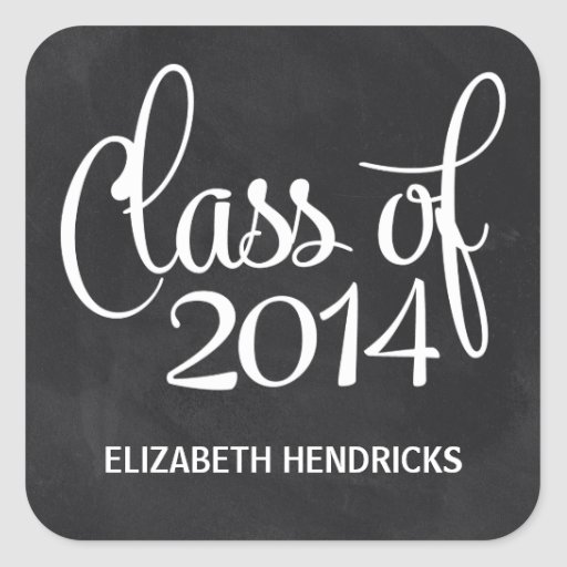 Chalkboard Class of 2014 Graduation Sticker