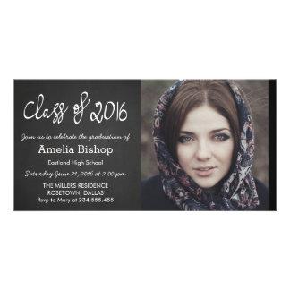 Chalkboard Class Of 2016 Handwritten Graduation Card
