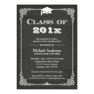Chalkboard Class of 2018 Grad Cap Graduation Card