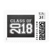 Chalkboard Class of 2018 Graduation Postage