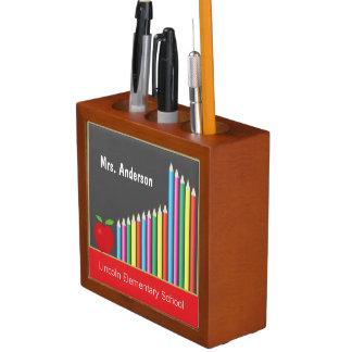 Chalkboard, Colored Pencils Personalized Teacher Pencil/Pen Holder