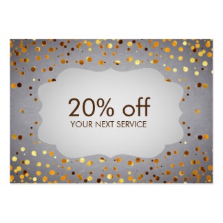Chalkboard Confetti Coupon Card Voucher Discount Large Business Cards (Pack Of 100)