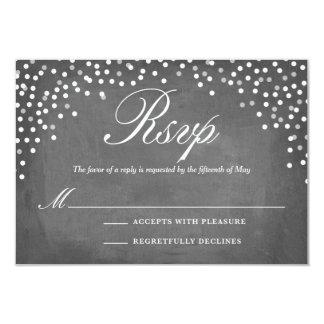 Chalkboard Confetti Dots RSVP Card