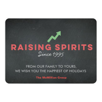 Chalkboard Corporate Holiday Card, Raising Spirits Card