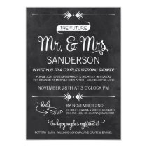 Chalkboard Couples Wedding Shower 5x7 Paper Invitation Card
