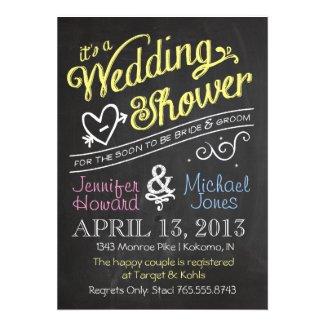 Chalkboard S Wedding Shower Invitation