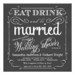 Chalkboard Couples Wedding Shower Invitations