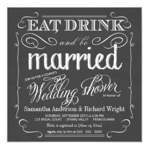 Chalkboard bridal shower invitations zazzle chalkboard couples wedding shower invitations filmwisefo