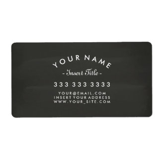 Chalkboard Curved Text Professional Business Label