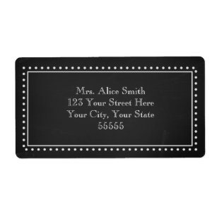 black and white labels zazzle