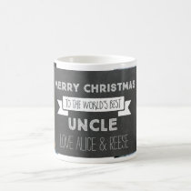 Chalkboard Custom Photo Best Uncle Christmas Mug