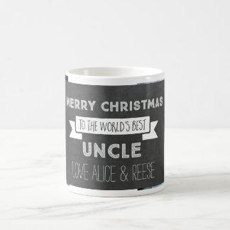 Chalkboard Custom Photo Best Uncle Christmas Mug