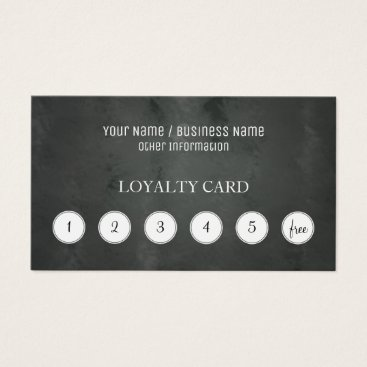 Professional Business Chalkboard Customer Loyalty Punch Card