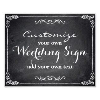 Chalkboard - Customize your own wedding sign - Photo Print