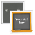 Chalkboard, Customize your text 2 Inch Square Button
