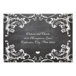 Chalkboard Cute Heart Initials Typography RSVP Invite