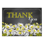 Chalkboard Daisies Rustic Modern Thank You Card