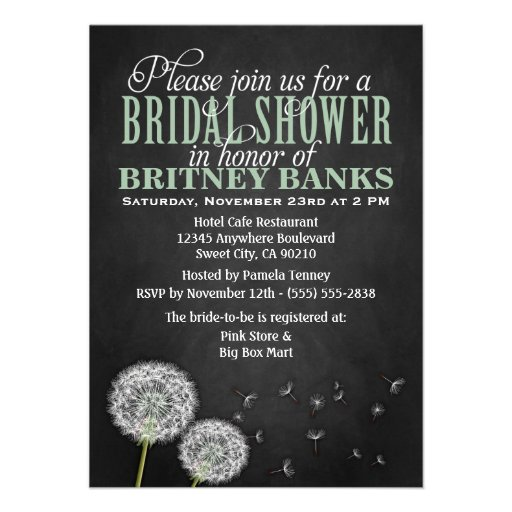 Chalkboard Bridal Shower Invitations for your inspiration to make invitation template look beautiful
