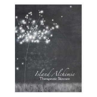 Chalkboard Dandelion Business Thank You Postcard