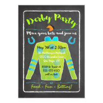 Chalkboard Derby Horse Racing Party Invitation