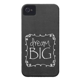Chalkboard Design DREAM BIG Custom iPhone 4 S Case iPhone 4 Cover