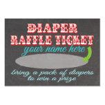 Chalkboard Diaper Raffle Ticket Business Card Template