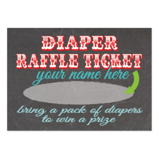 Chalkboard Diaper Raffle Ticket Large Business Cards (Pack Of 100)