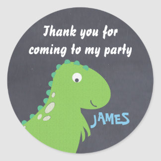 Chalkboard Dinosaur Birthday party Sticker