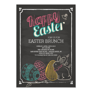 Chalkboard Easter Brunch Dinner Party Invitation