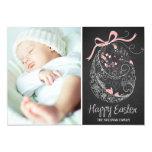 "Chalkboard Easter Egg | Happy Easter Photo Card 5"" X 7"" Invitation Card"