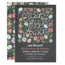 Chalkboard Easter Egg Hunt and Brunch Card