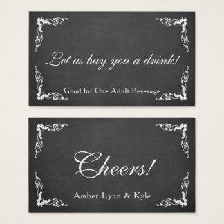 Chalkboard, Editable Text & Script, Drink Tickets