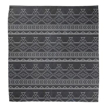 Aztec Themed Chalkboard Effect Aztec Tribal Stripes Bandana