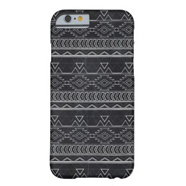 Aztec Themed Chalkboard Effect Aztec Tribal Stripes Barely There iPhone 6 Case