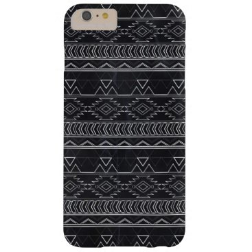 Aztec Themed Chalkboard Effect Aztec Tribal Stripes Barely There iPhone 6 Plus Case