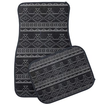 Aztec Themed Chalkboard Effect Aztec Tribal Stripes Car Mat
