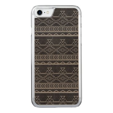 Aztec Themed Chalkboard Effect Aztec Tribal Stripes Carved iPhone 7 Case