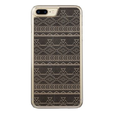 Aztec Themed Chalkboard Effect Aztec Tribal Stripes Carved iPhone 8 Plus/7 Plus Case