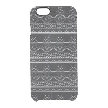 Aztec Themed Chalkboard Effect Aztec Tribal Stripes Clear iPhone 6/6S Case