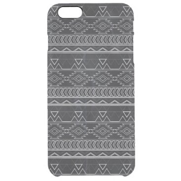 Aztec Themed Chalkboard Effect Aztec Tribal Stripes Clear iPhone 6 Plus Case