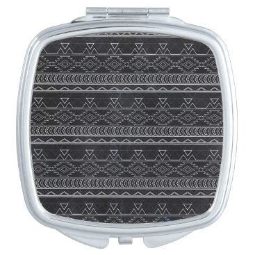 Aztec Themed Chalkboard Effect Aztec Tribal Stripes Compact Mirror