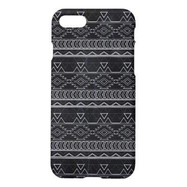 Aztec Themed Chalkboard Effect Aztec Tribal Stripes iPhone 7 Case