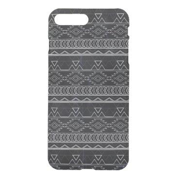 Aztec Themed Chalkboard Effect Aztec Tribal Stripes iPhone 7 Plus Case