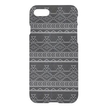 Aztec Themed Chalkboard Effect Aztec Tribal Stripes iPhone 8/7 Case