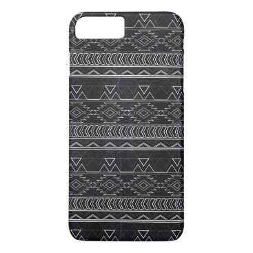Aztec Themed Chalkboard Effect Aztec Tribal Stripes iPhone 8 Plus/7 Plus Case