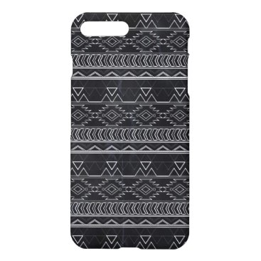 Aztec Themed Chalkboard Effect Aztec Tribal Stripes iPhone 8 Plus/7 Plus Case