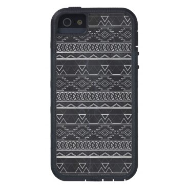 Aztec Themed Chalkboard Effect Aztec Tribal Stripes iPhone SE/5/5s Case